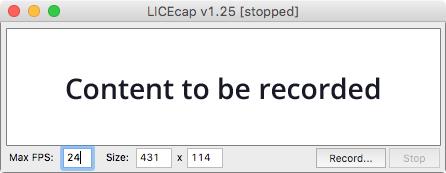 LICEcap recording screen