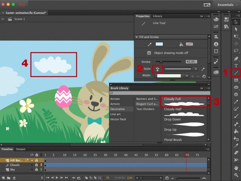 Adobe Animate brush library