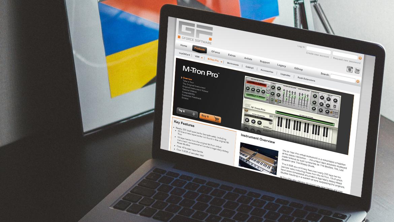 Website for GForce Software