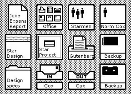 Xerox Star Icons