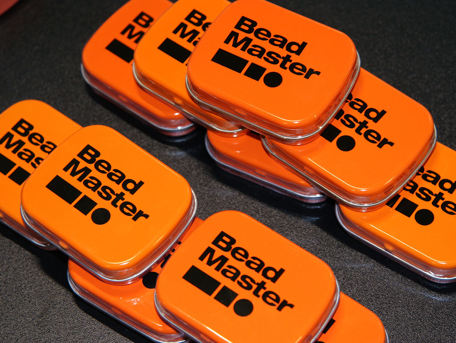 BeadMaster London Build 2019 branded mints.