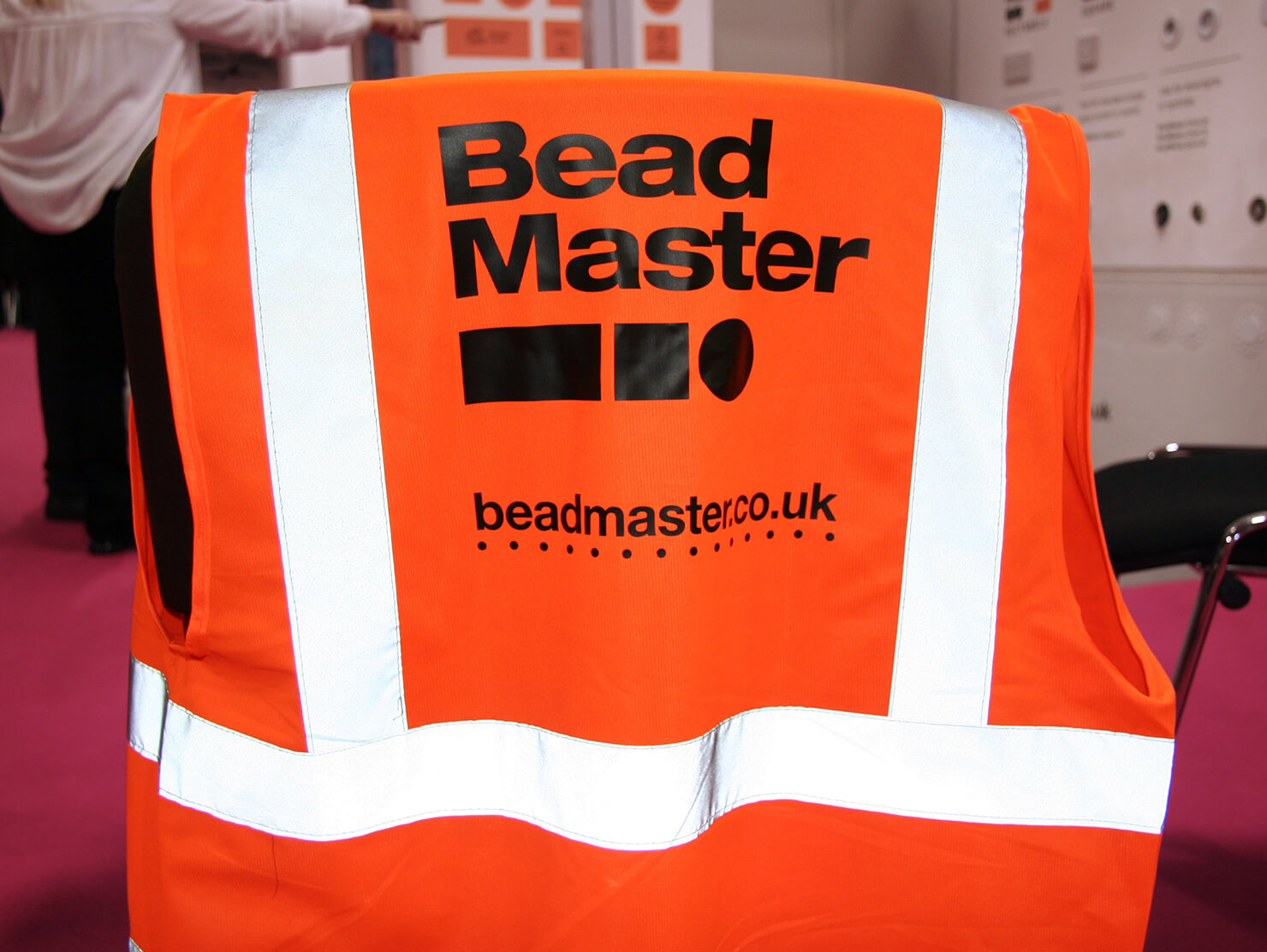 BeadMaster London Build 2019 branded hi-vis workwear.