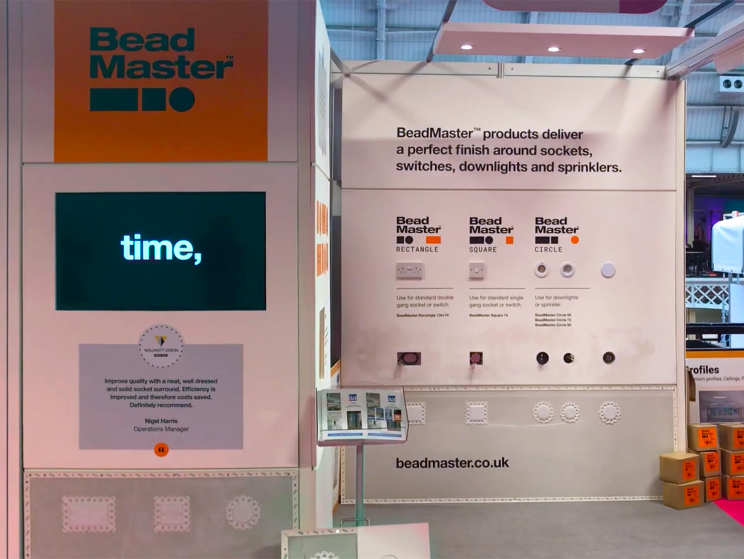 BeadMaster London Build 2019 event stand.